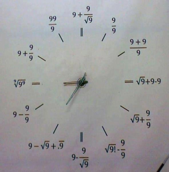 relogio matematica