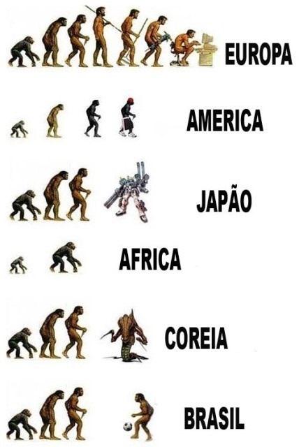 evolucao europa america japao africa coreia brasil