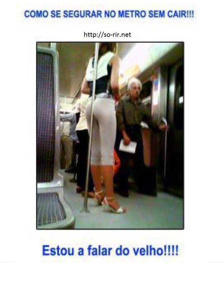 segurar no metro