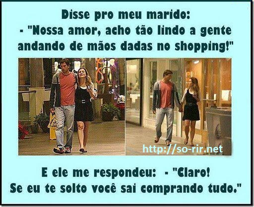 mao dada no shoping